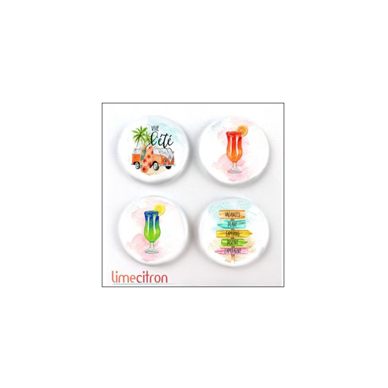 Badges 2.5cm Lime Citron - West