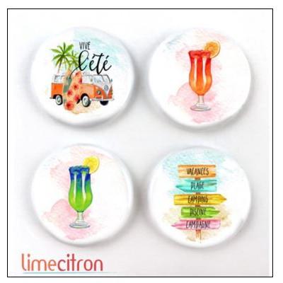 Badges 2.5cm Lime Citron - West