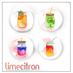 Badges 2.5cm Lime Citron - Drinks