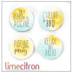 Badges 2.5cm Lime Citron - Patio Party