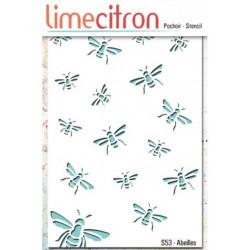 Pochoir Lime Citron 10x15 cm - Abeilles