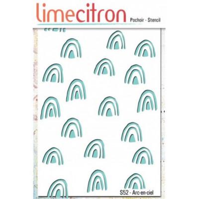 Pochoir Lime Citron 10x15 cm - Arc-en-ciel
