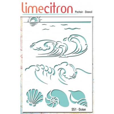 Pochoir Lime Citron 10x15 cm - Océan