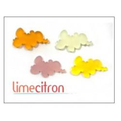Décoration Acrylique Lime Citron - Nuages Pastels