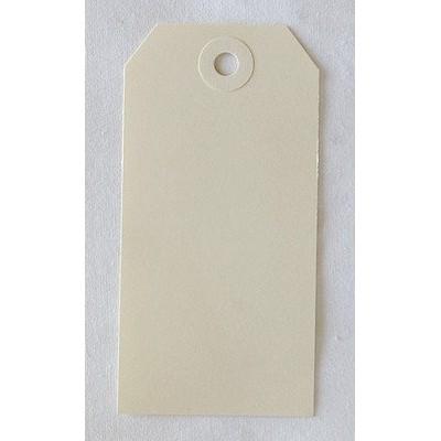 Etiquettes américaines 5x10 cm - Beige - Oeillet beige (10)