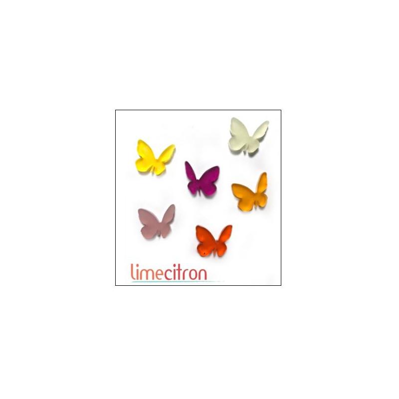 Décoration Acrylique Lime Citron - Papillons