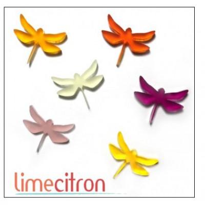 Décoration Acrylique Lime Citron - Libellules