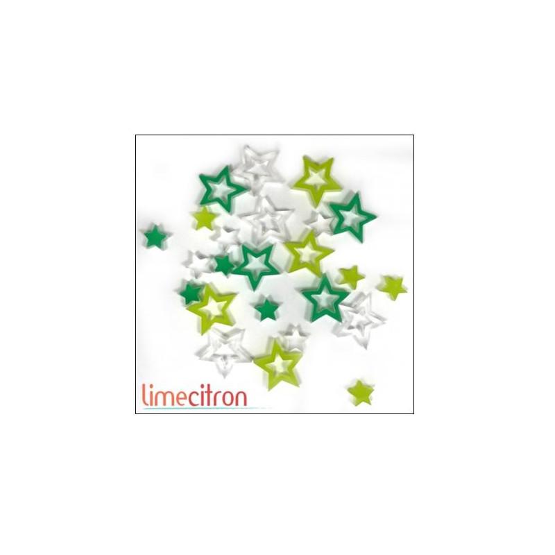 Décoration Acrylique Lime Citron - Etoiles