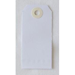 Etiquettes américaines 5x10 cm - Blanc - Oeillet beige (10)