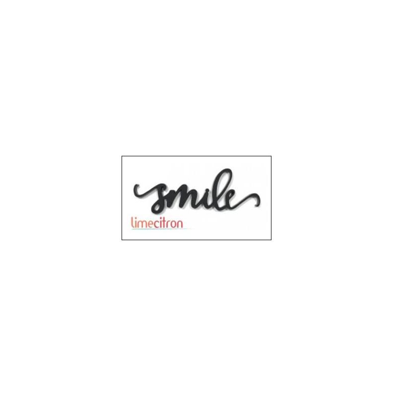 Décoration Acrylique Lime Citron - Smile (Noir)