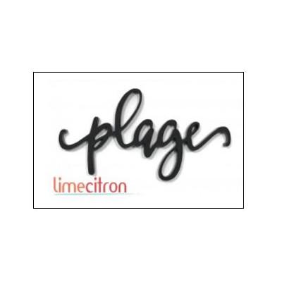Décoration Acrylique Lime Citron - Plage (Noir)