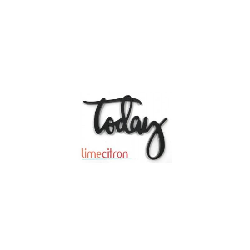 Décoration Acrylique Lime Citron - Today (noir)