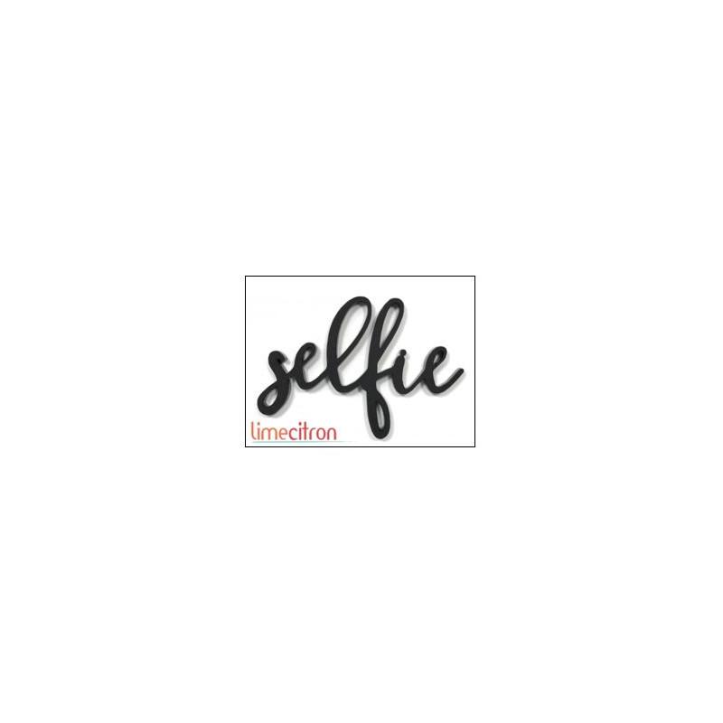 Décoration Acrylique Lime Citron - Selfie (Noir)