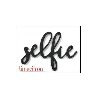 Décoration Acrylique Lime Citron - Selfie (Blanc)