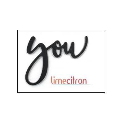 Décoration Acrylique Lime Citron - You (noir)