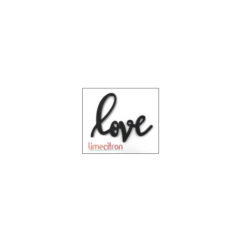 Décoration Acrylique Lime Citron - Love (Noir)