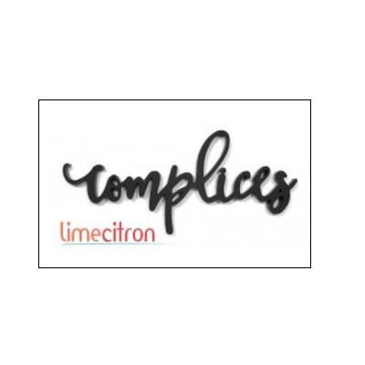 Décoration Acrylique Lime Citron - Complices (noir)