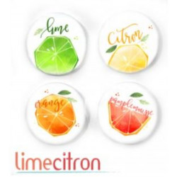 Badges 2.5cm Lime Citron - Citron