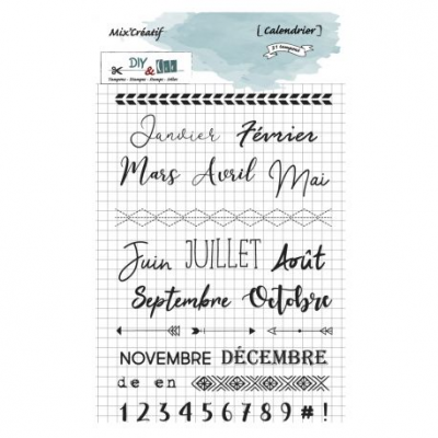 Tampon clear - Calendrier - DIY and Cie