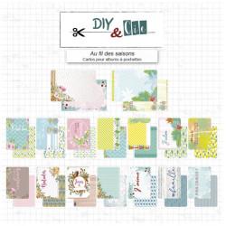 Cartes pour albums Au Fil des saisons - DIY and Cie