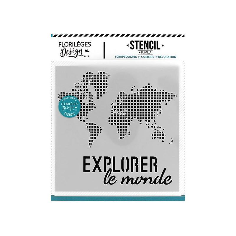 Pochoir Explorer le monde