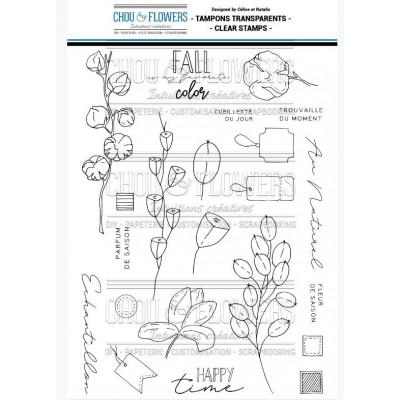 Tampons clear Chou & Flowers - Fleurs d'automne