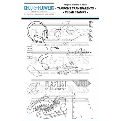 Tampons clear Chou & Flowers - Back to school