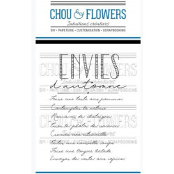 Tampons clear Chou & Flowers - Envies d'automne
