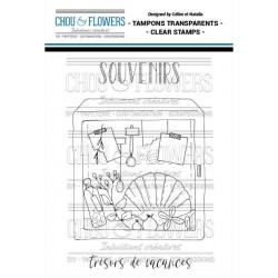 Tampons clear Chou & Flowers - Trésors
