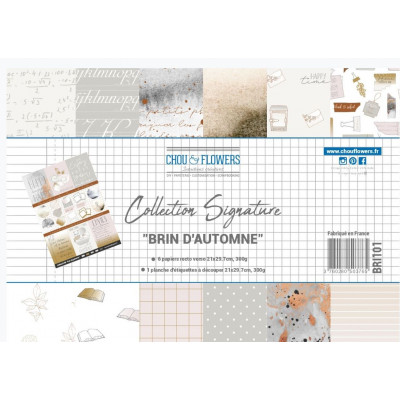 Pack de papiers A4 - Chou & Flowers - Collection Collection Brin d'automne