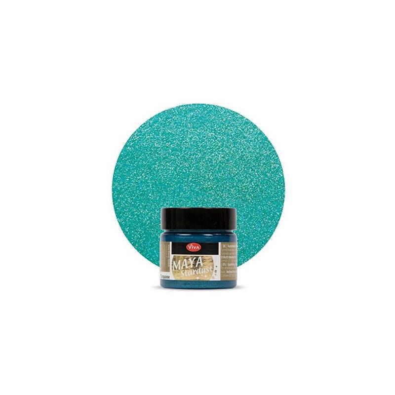 Peinture - Maya Stardust -Turquoise