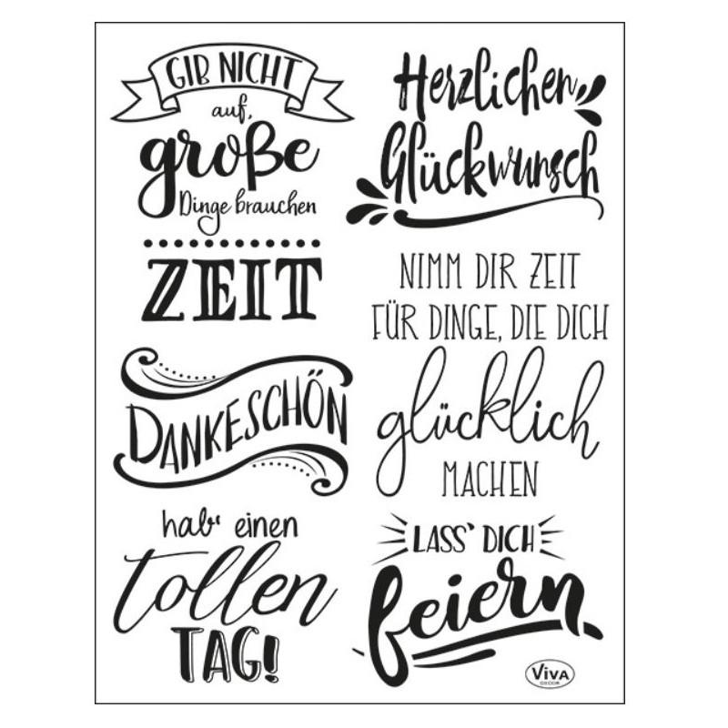 Tampons transparents Viva - Lettrage allemand