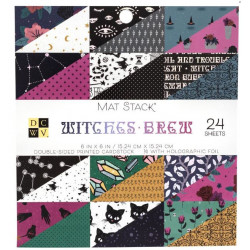 Pack papiers 15.2 x 15.2 - Witches Brew