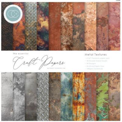 Pack de papiers 15.2 x 15.2 - Metal textures