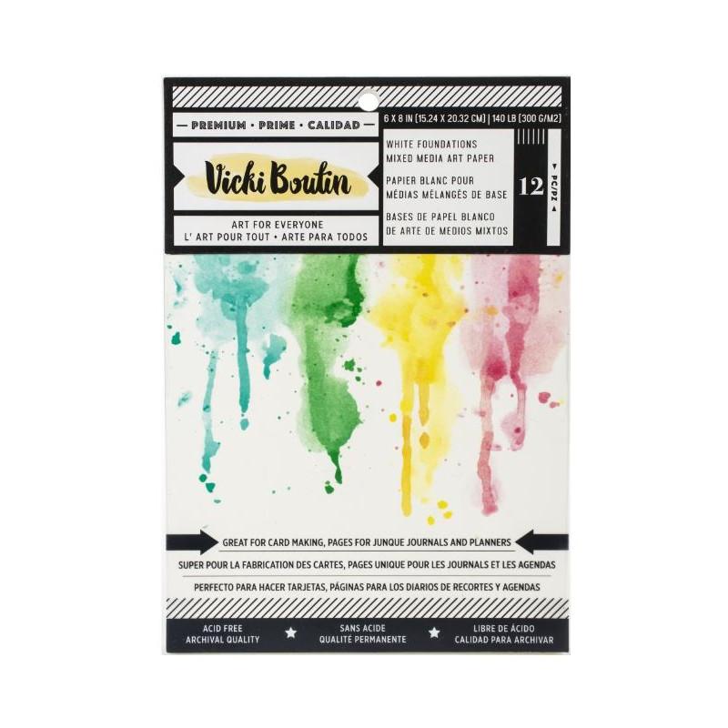 Pack de papiers blancs - 15 X 20cm - Vicki Boutin