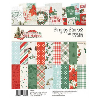 Pack de papiers 15x20cm - Country Christmas