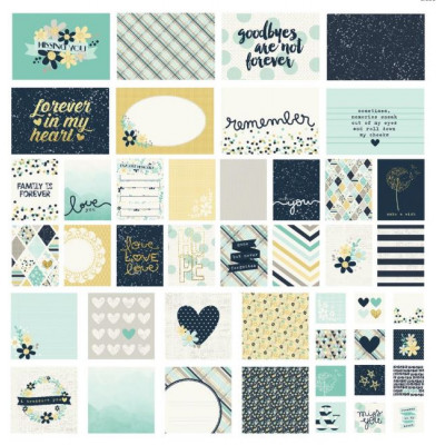 Pack de 48 cartes - Simple Stories - Heart