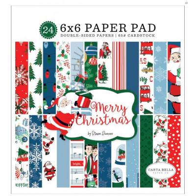 Pack papier - Carta Bella - 15x15cm - Merry Christmas