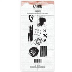Tampons clear Les Ateliers de Karine - Esprit Bohème - Textures 1