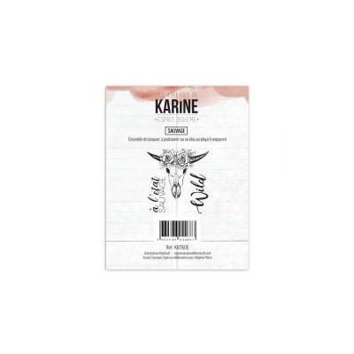 Tampons clear Les Ateliers de Karine - Esprit Bohème - Sauvage