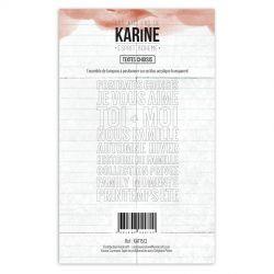Tampons clear Les Ateliers de Karine - Esprit Bohème - Textes choisis