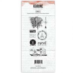 Tampons clear Les Ateliers de Karine - Esprit Bohème - Rebelle