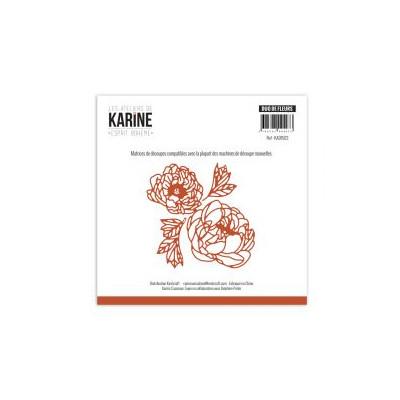 Dies Les Ateliers de Karine - Esprit Bohème - Duo de fleurs