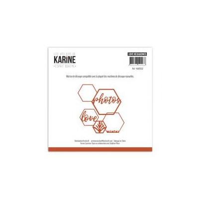 Dies Les Ateliers de Karine - Esprit Bohème - Love hexagones