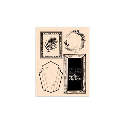 Tampon bois Les Ateliers de Karine - Idées encadrées