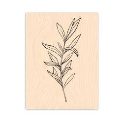 Tampon bois Les Ateliers de Karine - Légère comme une feuille