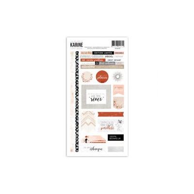 Les Ateliers de Karine - Esprit Bohème - Stickers - 15 x 30