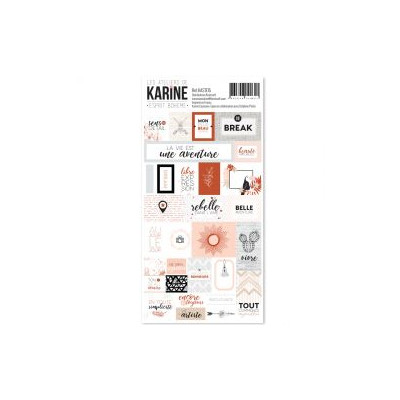Les Ateliers de Karine - Esprit Bohème - Stickers - Etiquettes