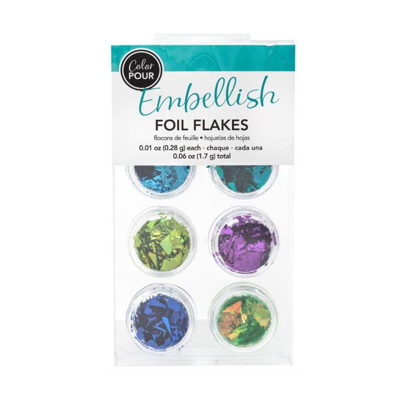 Color Pour - Foil flakes - Cool
