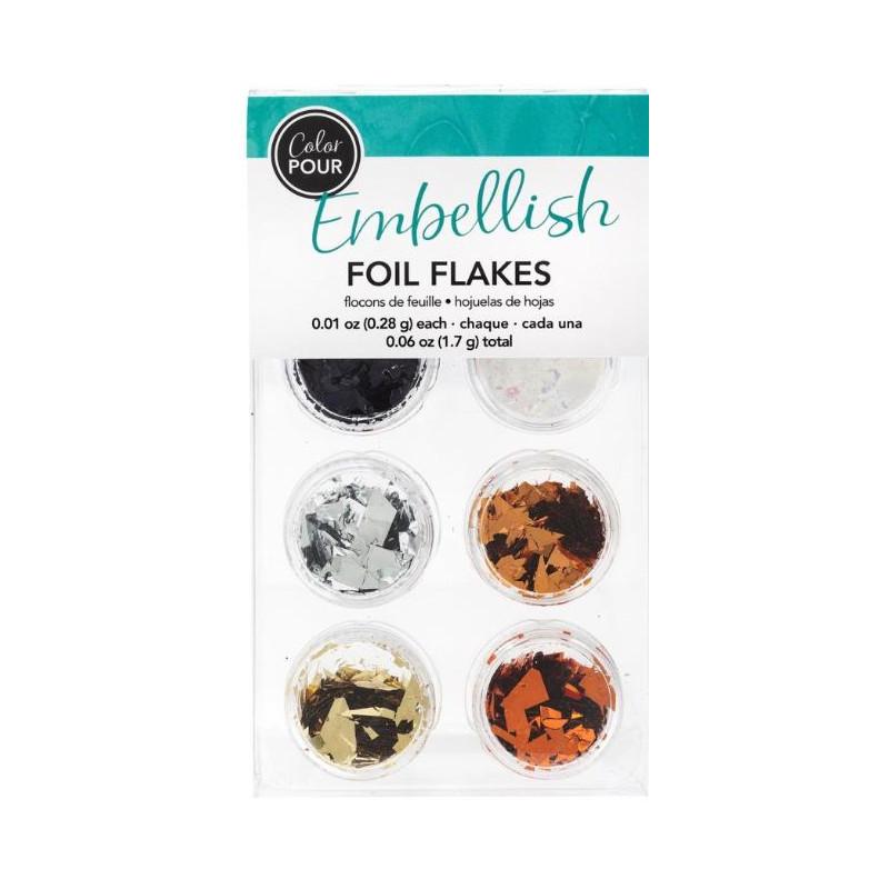 Color Pour - Foil flakes - Metallique